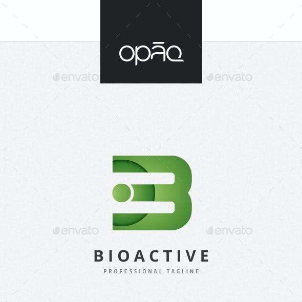 B Letter Bioactive Logo