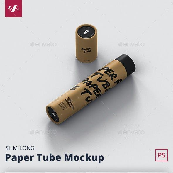 Paper Tube Mockup - Slim Long Size