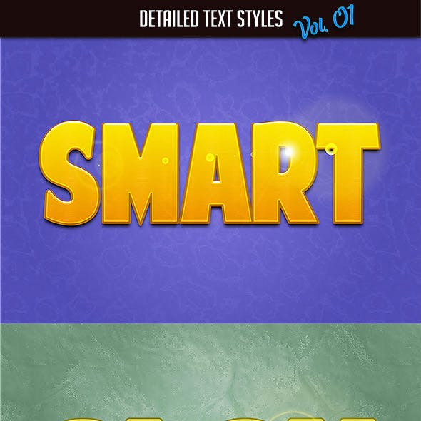 10 Detailed Text Styles vol. 01
