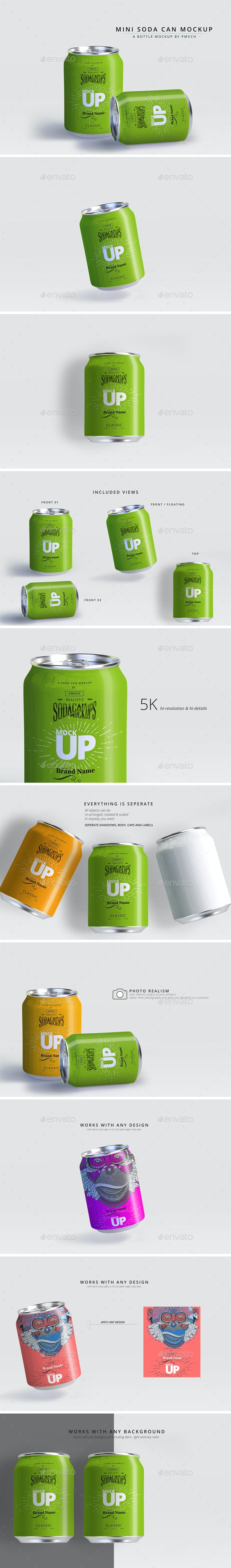 Mini Can Mockup - Food and Drink Packaging