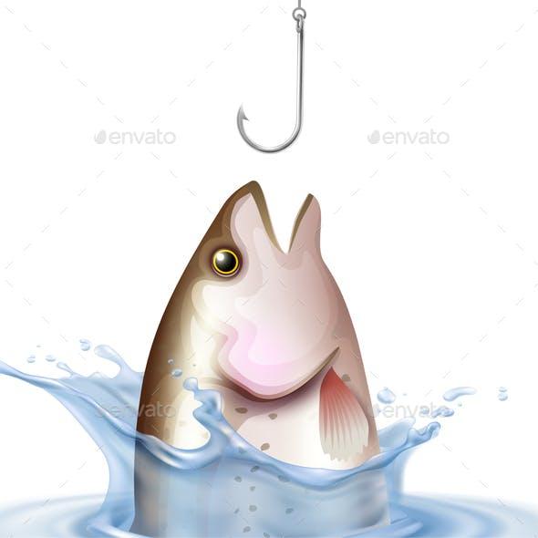 Fishery Realistic Illustration