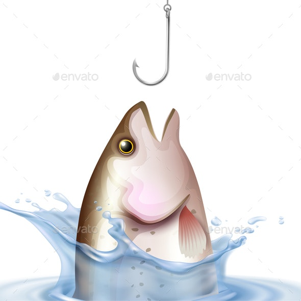 Fishery Realistic Illustration - Animals Characters