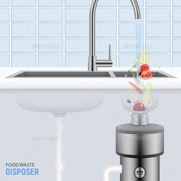 Sink With Food Waste Disposer - Food Objects