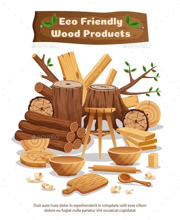 Wood Industry Production Poster - Industries Business
