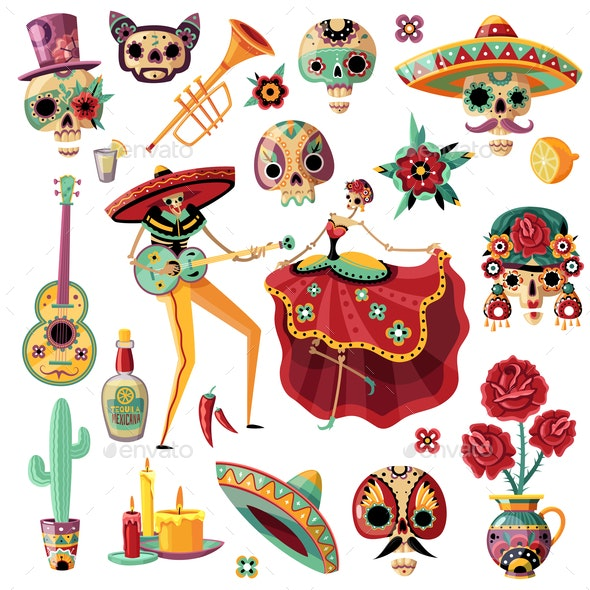 Mexican Day of Dead Set - Miscellaneous Seasons/Holidays