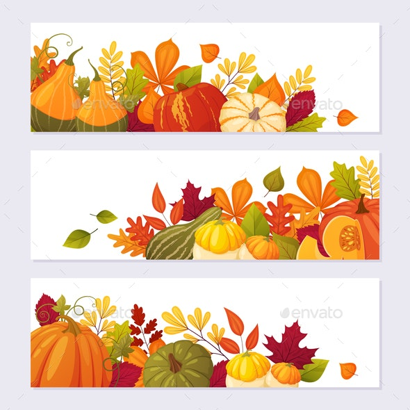 Set of Autumn Banners - Miscellaneous Vectors