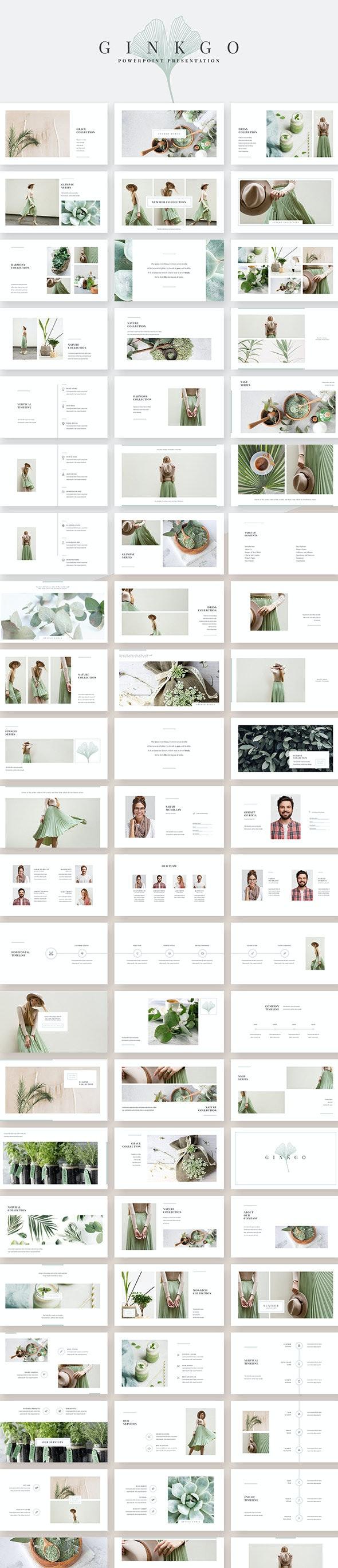 Ginkgo PowerPoint Template - Creative PowerPoint Templates