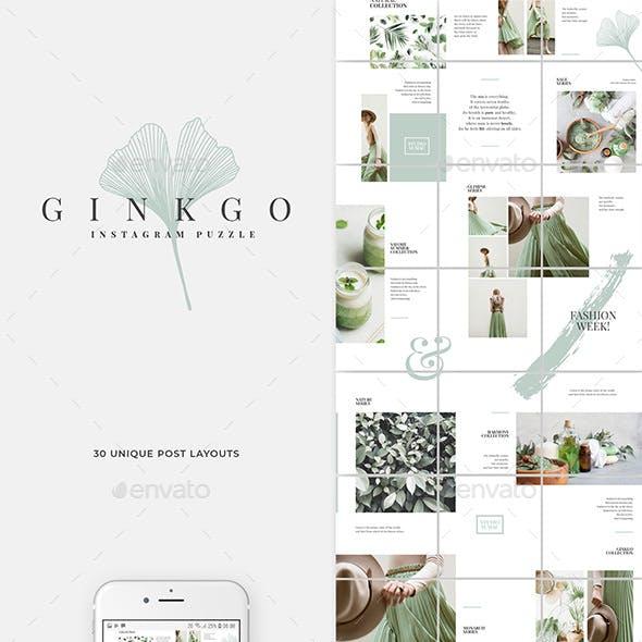 Ginkgo Instagram Puzzle Template