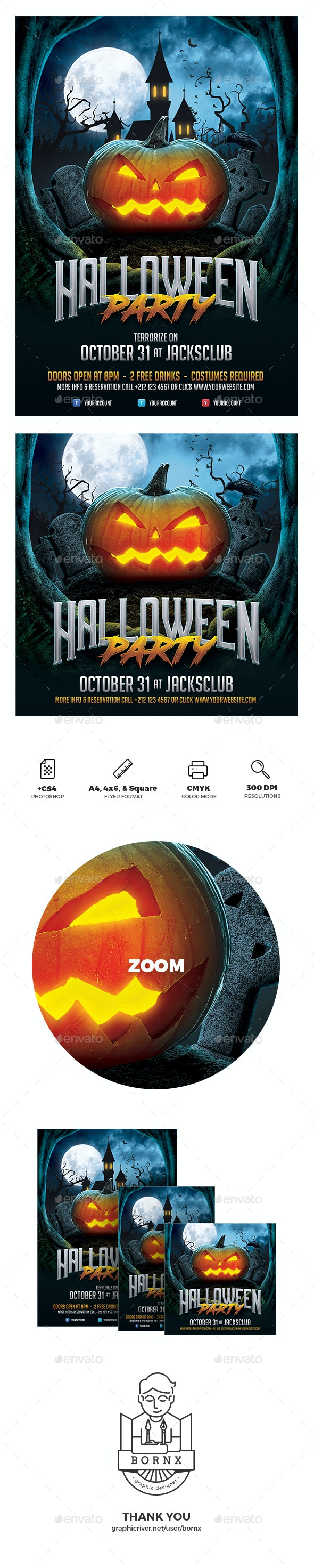 Halloween Flyer Template - Holidays Events