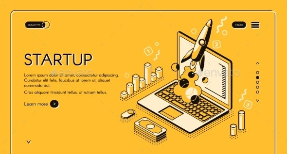 Startup Business Isometric Line Vector - Concepts Business
