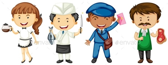 People Doing Different Jobs - People Characters