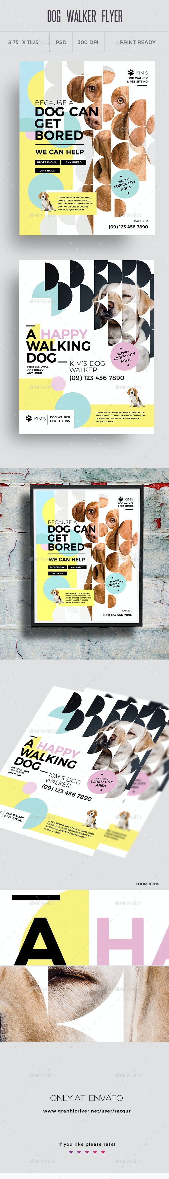 Dog Walker Flyer Templates - Corporate Flyers