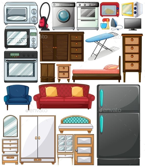 Different Types of Home Appliances - Man-made Objects Objects