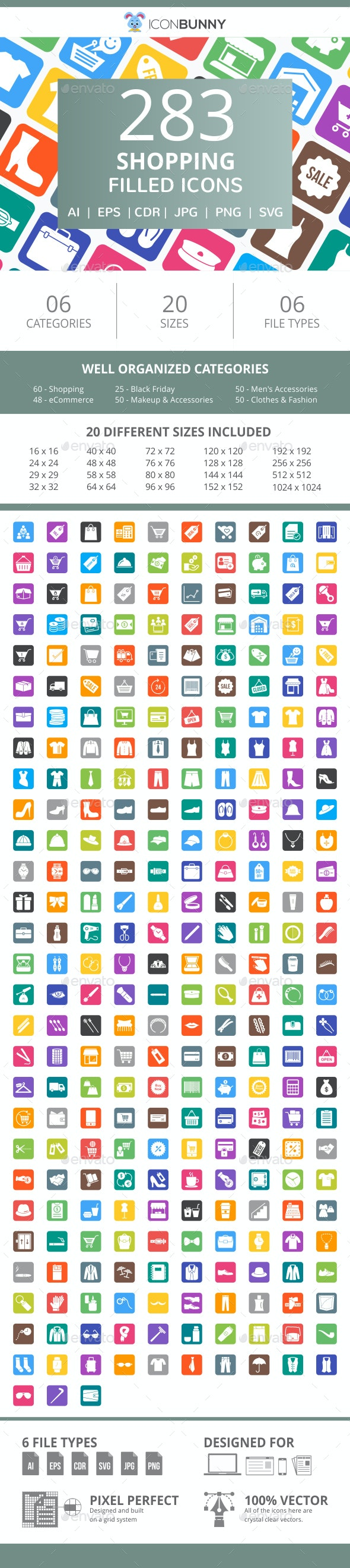 283 Shopping Filled Round Corner Icons - Icons