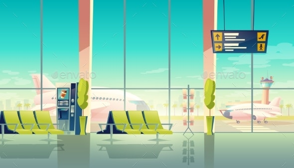 Vector Airport Hall - Travel Conceptual