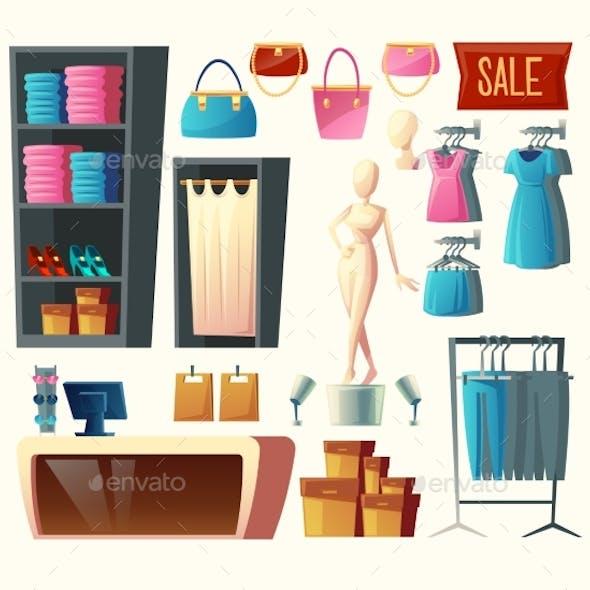 Vector Clothing Shop Set