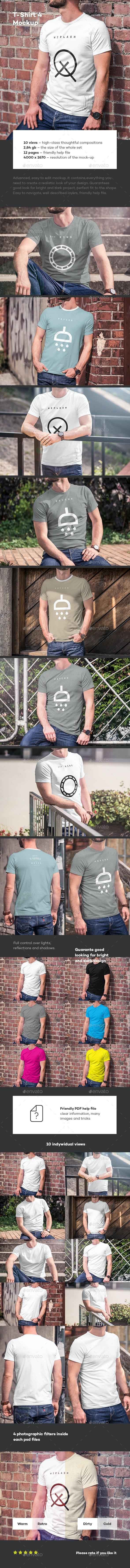 T-Shirt Mock-up 4 - T-shirts Apparel