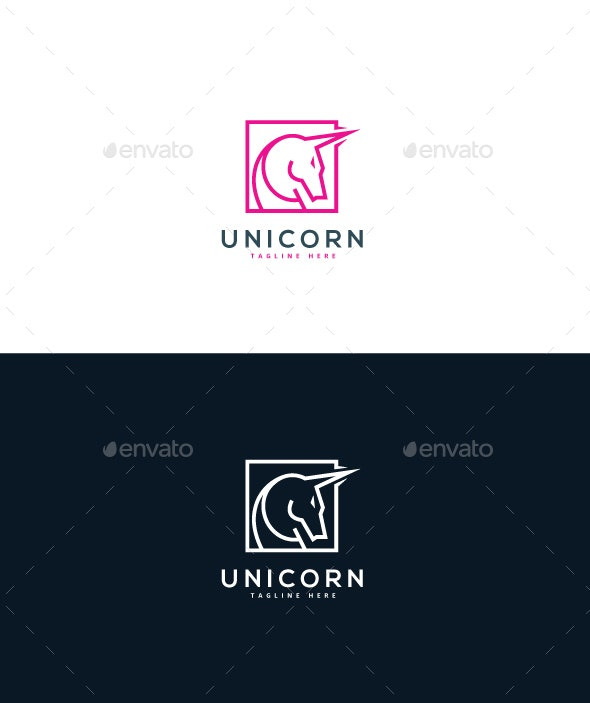 Unicorn Logo - Objects Logo Templates