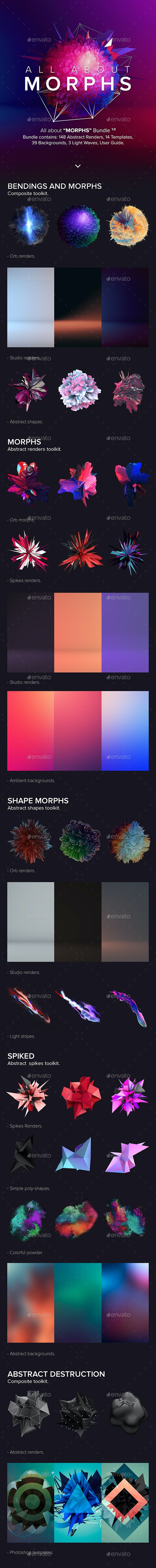 "All about ""MORPHS"" Bundle - Decorative Graphics"