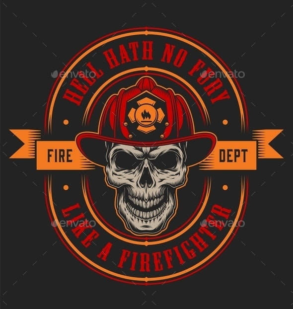 Vintage Firefighting Emblem - Miscellaneous Vectors