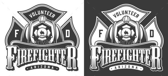 Vintage Firefighter - Miscellaneous Vectors