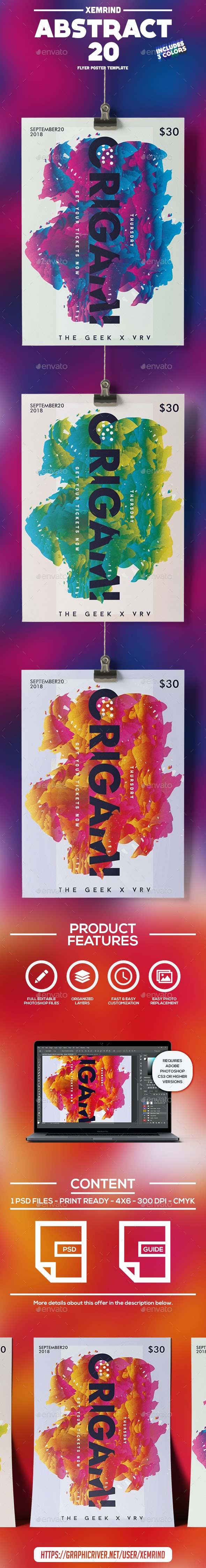 Abstract 20 Flyer/Poster Template - Events Flyers