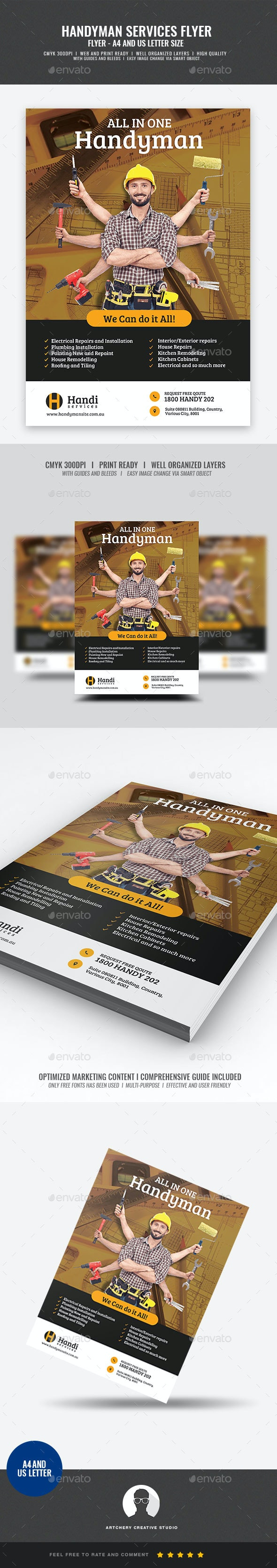 Handyman Promotional Flyer - Corporate Flyers