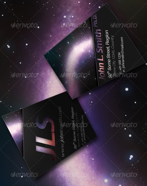 Deep Space Business Card - Creative Business Cards