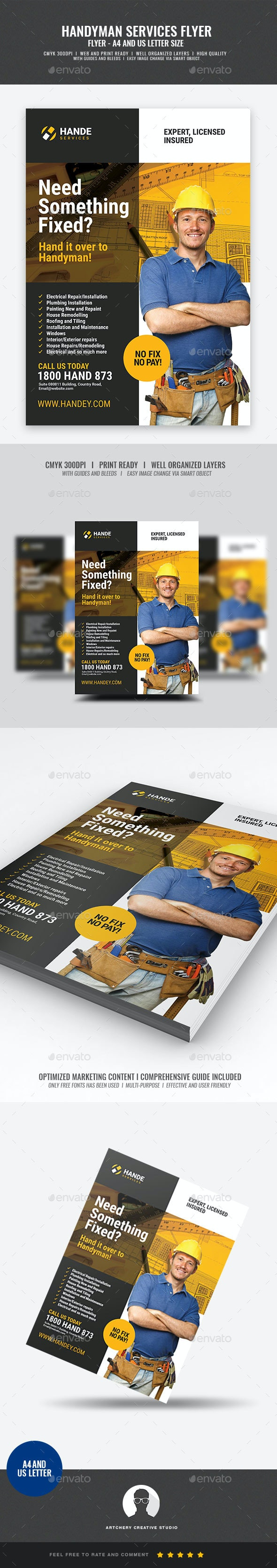 Handyman Services Flyer - Corporate Flyers