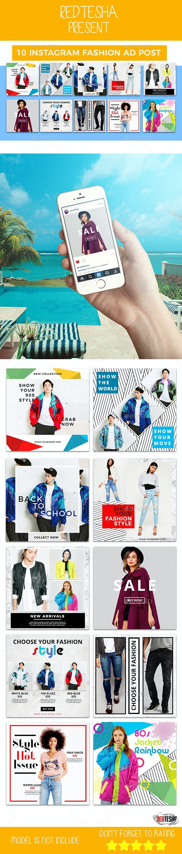 Instagram Fashion Banner #15 - Banners & Ads Web Elements