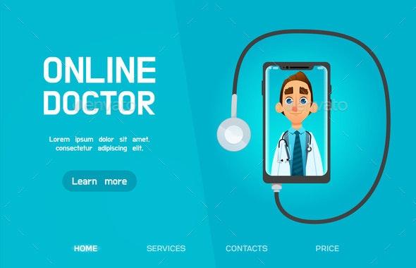 Online Doctor - People Characters