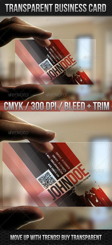 Transparent Red Ash Business Card - Business Cards Print Templates