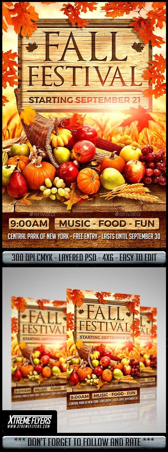 Autumn Festival Flyer - Clubs & Parties Events