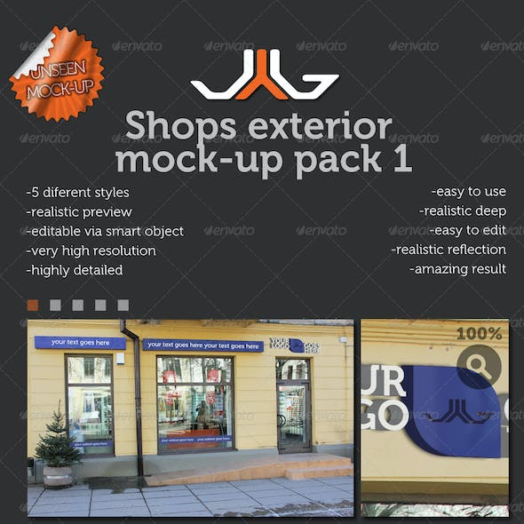Shops Exterior Mock-Ups 2 pack