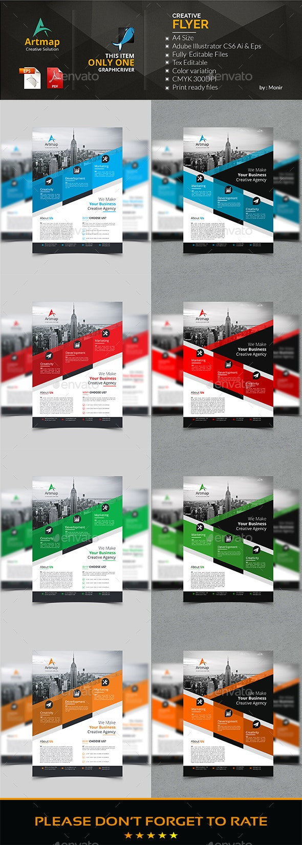 Corporate Flyer Bundle 2 in 1 - Flyers Print Templates