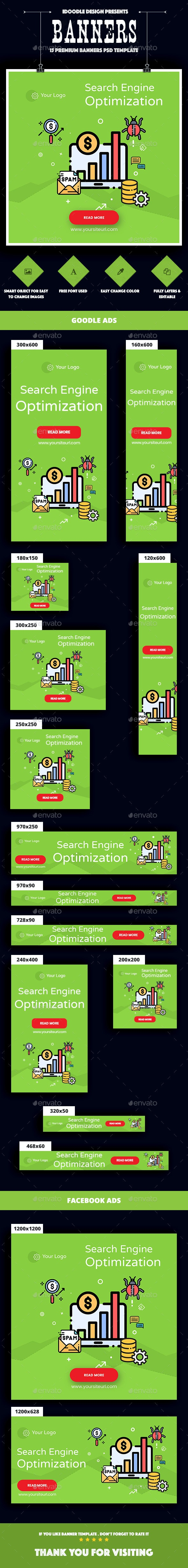 SEO Agency Banners Ad - Banners & Ads Web Elements