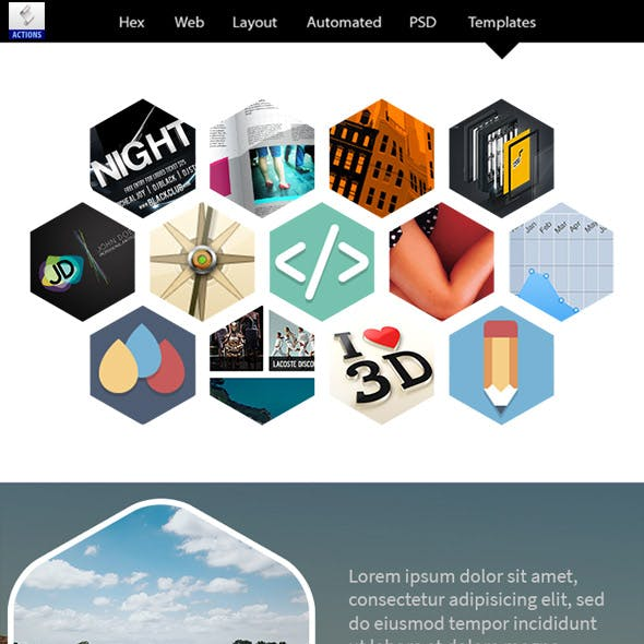 Hex Web Layouts Automated PSD Templates