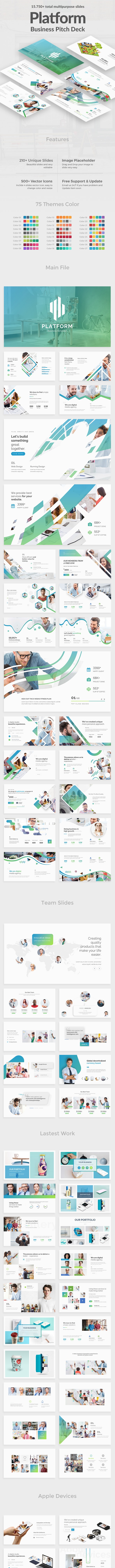 Business Platform Pitch Deck Powerpoint Template - Business PowerPoint Templates