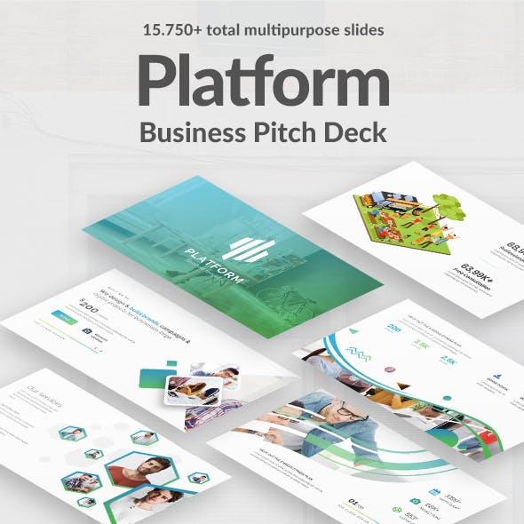 Business Platform Pitch Deck Powerpoint Template