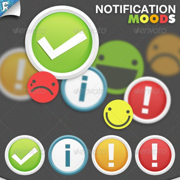 Notification Moods - Notifications and Smilies