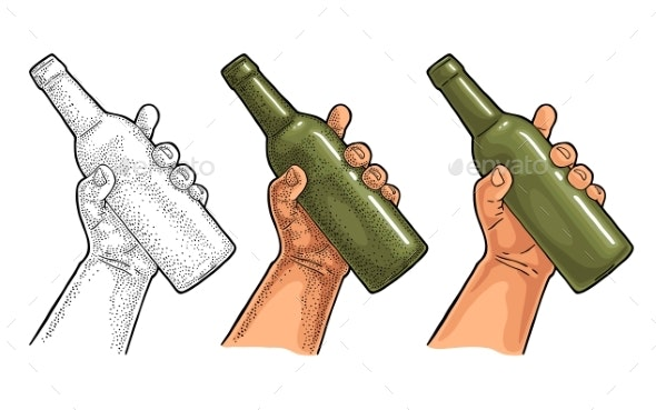 Man and Woman Hands Holding Beer - Food Objects