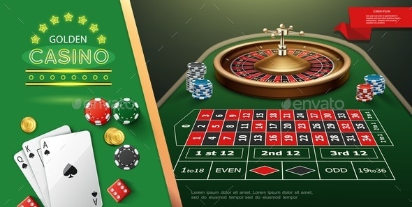 Realistic Casino Roulette Template - Sports/Activity Conceptual
