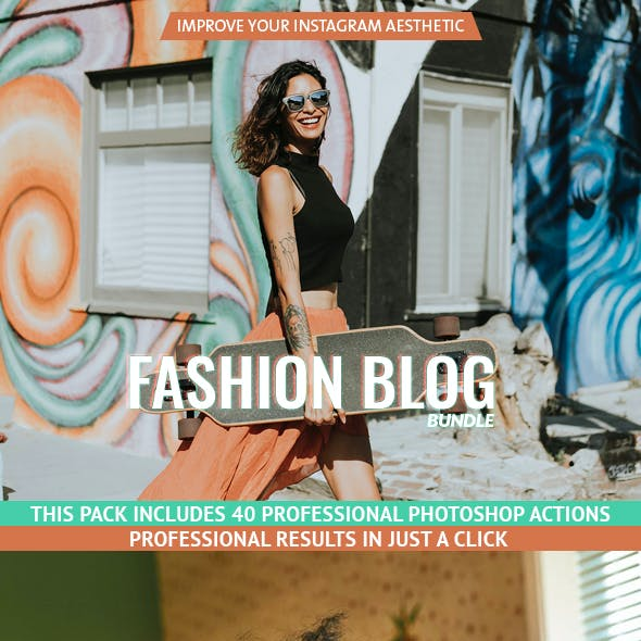 Fashion Blog - Actions Bundle