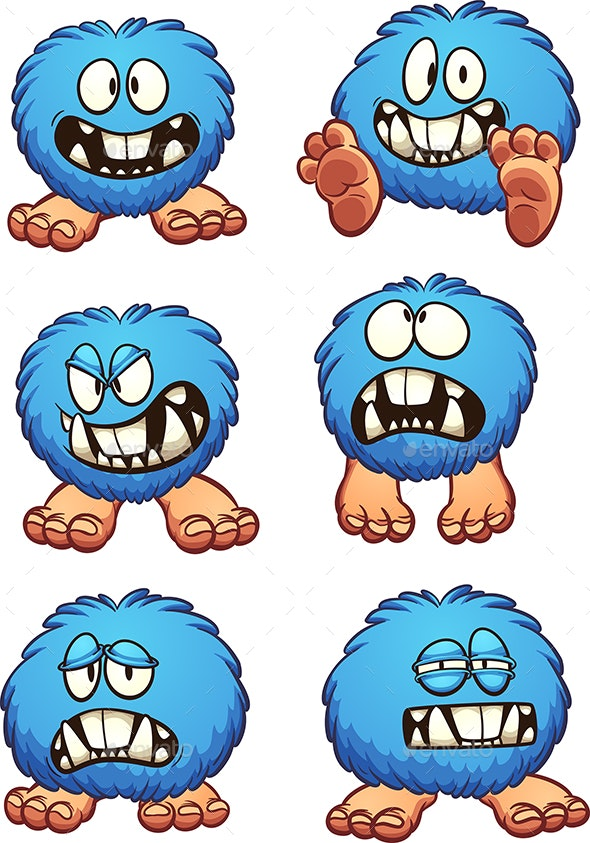 Blue Monster - Monsters Characters