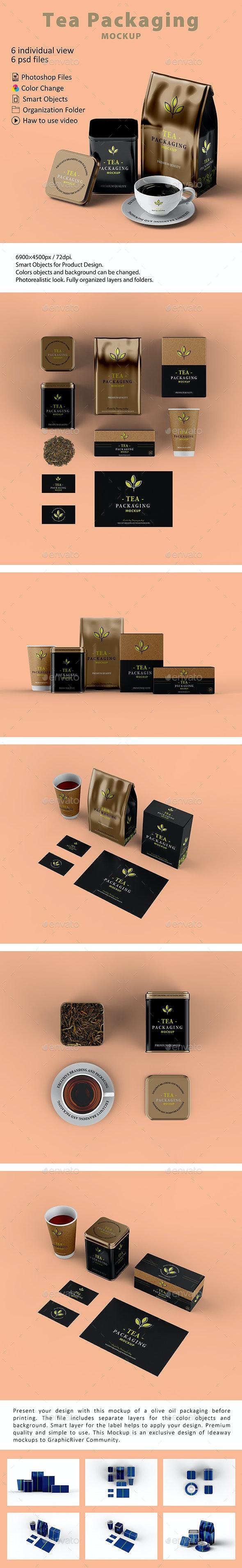 Tea Packaging Mockup - Food and Drink Packaging