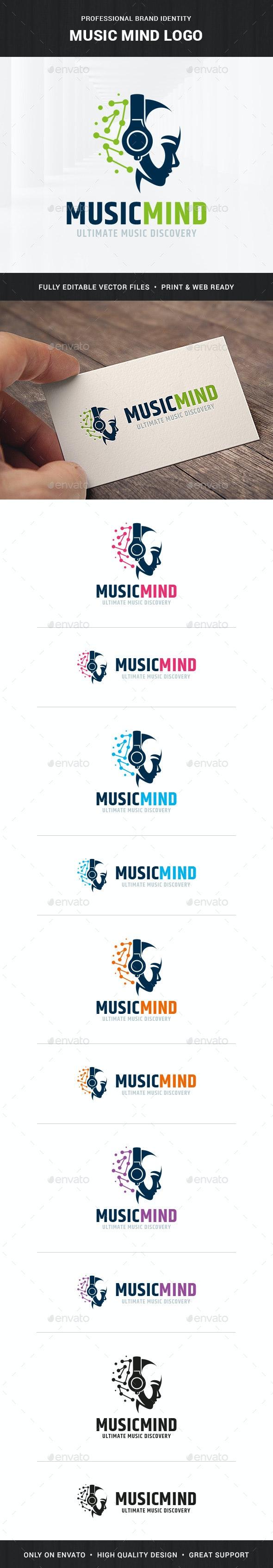 Music Mind Logo Template - Humans Logo Templates