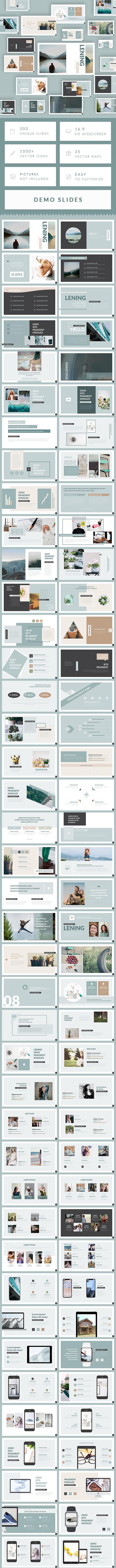 Lening - Minimal Simple Google Slides Template - Google Slides Presentation Templates