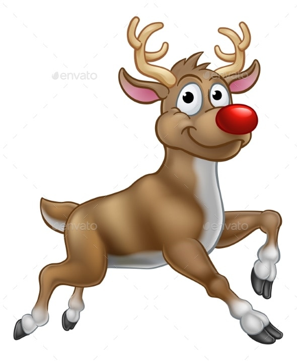 Reindeer Christmas Cartoon Character - Christmas Seasons/Holidays