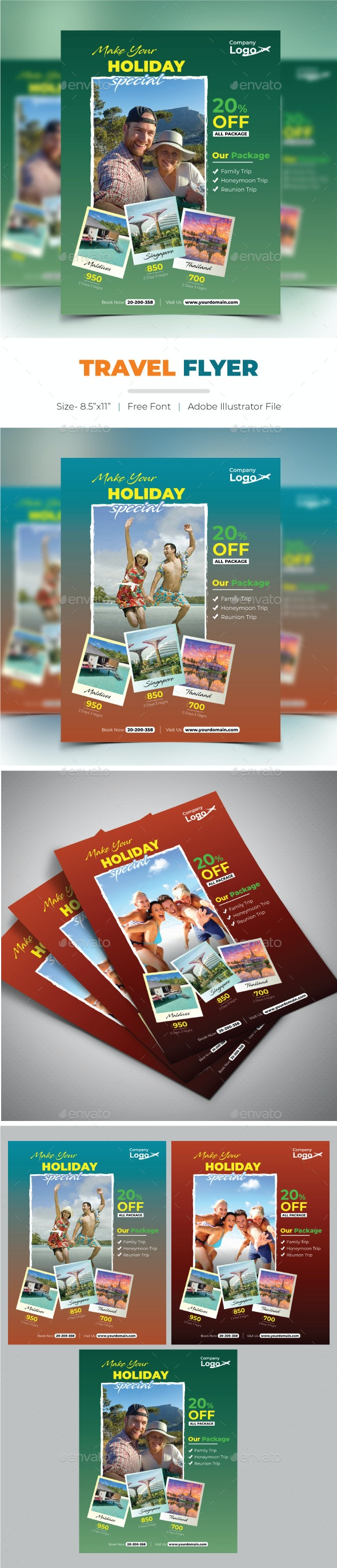 Travel Flyer - Holidays Events