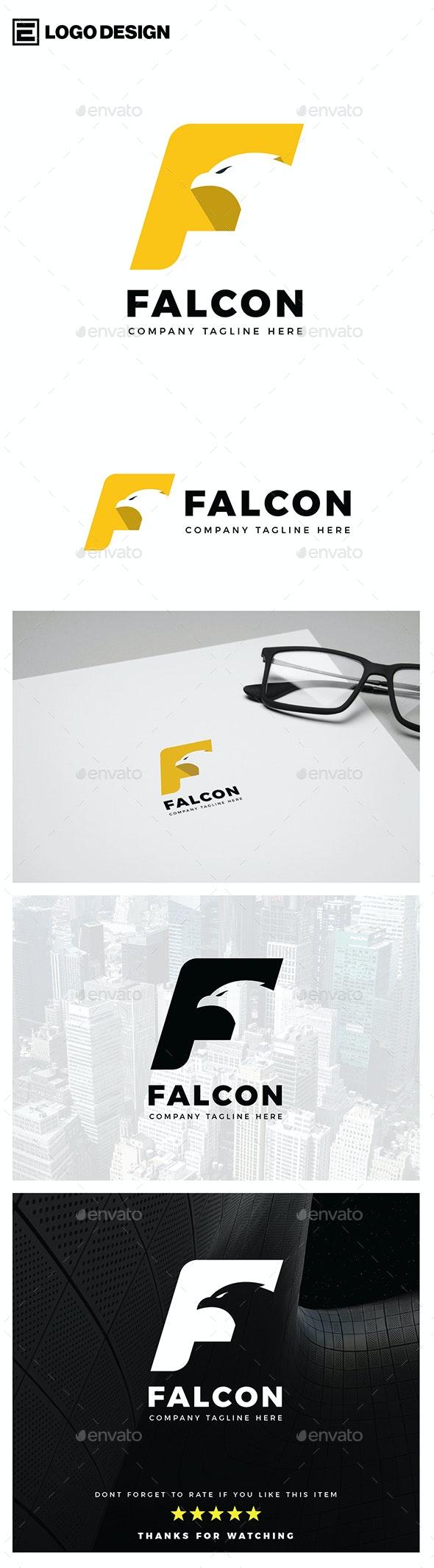 Falcon Letter F Logo
